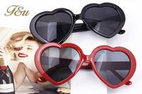 NEW 2014 Latest Heart Shaped Sunglasses WOMEN Plastic Wrap Reflective LENES Fashion sun GLASSES MEN sports Mirror oculos de sol