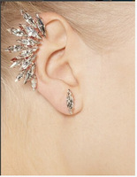 C042 Sparkling Rhinestone Clip Earrings,fashion jewelry Wholesale.