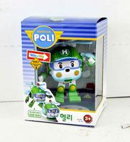 4pc/2014 NEW Hot  Robocar poli deformation car bubble South Korea Thomas toys 4 models mix robocar poli with retail pack