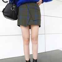 Women Pencil Skirts New Fashion 2014 Autumn&Winter Casual Striped Warm Skirts Female Plus 1492002