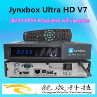 2pcs/ 2014 new tv box Jynxbox Ultra hd v7 for North America with Free JB200 8PSK Module + Wifi Dongle digital satellite receiver