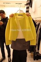 Free shipping ! 2014 new women's short  coat Casual Sophistication coat