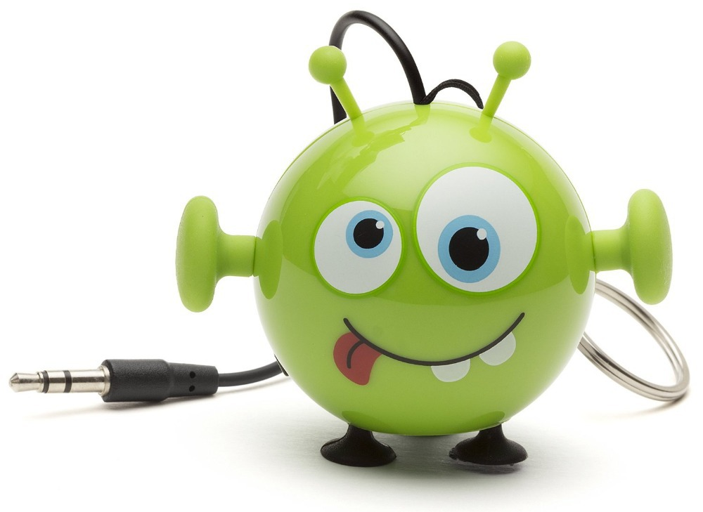 Hot Portable Mini Buddy Green Alien Speaker MINI Stereo Super Bass can used in to iPod iPad iPhone and Android,Good Quality(China (Mainland))