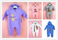Hot Sales Brand Baby Fleece Rompers Danny Bear Minnie Miki Lovely Animal Design Romper Newborn Boy Girl Long Sleeve Jumpsuit