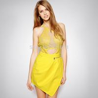 Wholesale 2014 three floor style women SICILY PLAYSUIT Dress Newest Vestidos Fashion Casual Dresses Celebrity Quality Guarantee