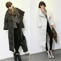 New 2014 Plus Size Add long Duck Down Winter Coat Women Thickening dot Warm Winter Female Women Jackets  Free Shipping hf149