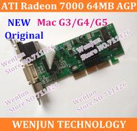 100% Original for Mac G3 G4 G5 Graphic Card Free Shipping  NEW ATI Radeon 7000 AGP 64MB Video Card DVI VGA TV-Out  FreeShipping
