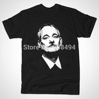 2014 Summer Men Fashion Chive Zombie Kcco Keep Calm Bill Murray T-shirt 100% Cotton Short Sleeve T Shirt Men