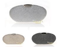 Full crystal evening bags day clutch evening bag fashion luxury diamond handbags silver gold black mix color bag