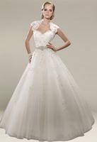 P14W123 Appliques  A-Line 2015 Tulle  Off the Shoulder Court Train Gorgeous Luxury Unique Brilliant Bridal Wedding Dress