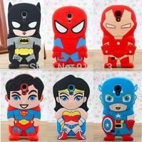 Hot Batman Superman Wonder woman Iron man Captain America 3D silicone case cover for Samsung galaxy s4 mini i9190 case