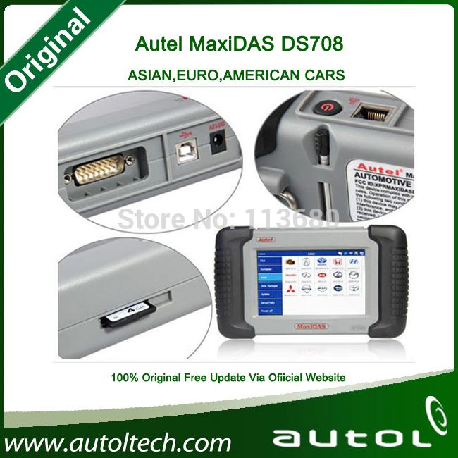 [Authorized Distributor]2014 Original Autel MaxiDAS DS708 update via internet full set Autel DS 708 Automotive Diagnostic System(China (Mainland))