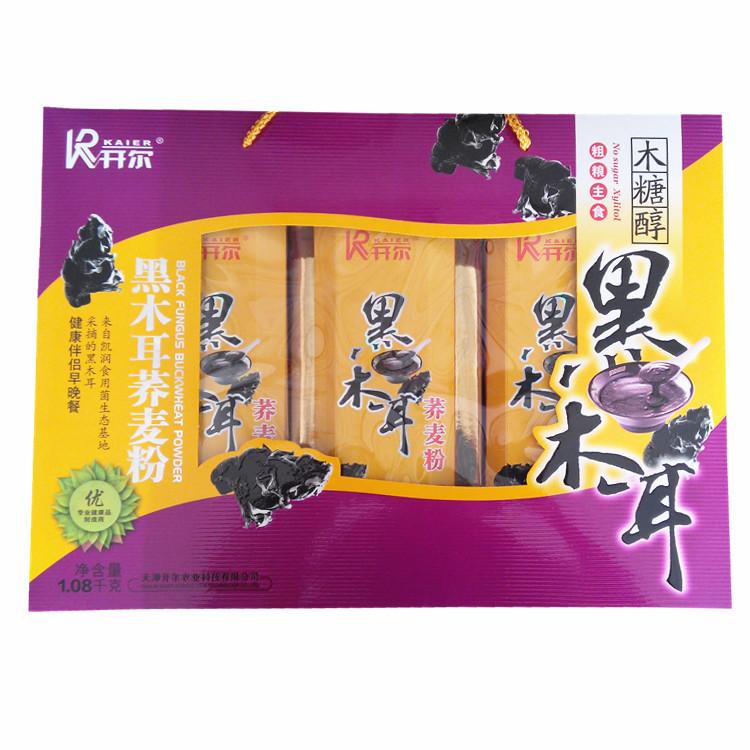 Kelvin black fungus buckwheat healthy companion Brunch sugar-free foods diabetics Gift 1080g(China (Mainland))