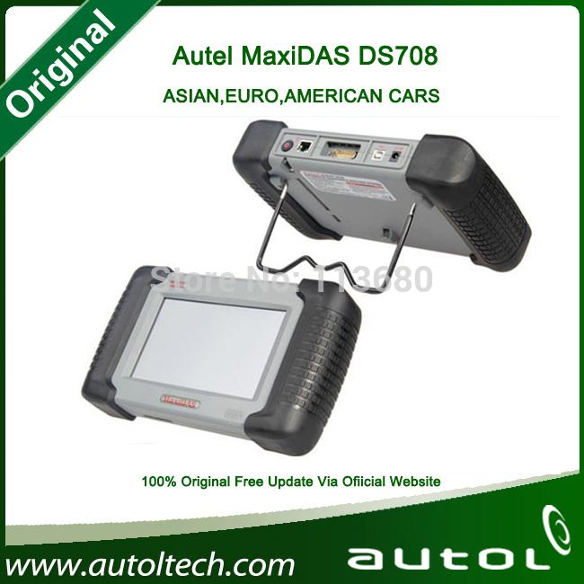 [Authorized Distributor] 2014 Auto Scanner Autel MaxiDAS DS708 update via internet full package 100% original DS 708 Code Reader(China (Mainland))