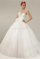 P14W125 Strapless A-Line 2015 Tulle Sleeveless Court Train Lace up back Gorgeous Luxury Unique Brilliant Bridal Wedding Dress