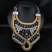 Wholesale Luxury Collares Necklace Fashion Jewelry Perfume Women Gothic Exaggerate Choker Pendant Choker necklace
