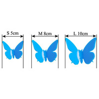 3D DIY Wall Stickers Butterflies Home Decor Room Decorations Decals 36 pcs