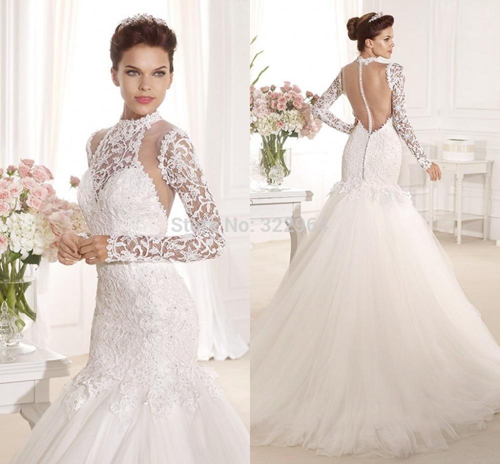 Tarik Ediz Halter Chiffon Wedding Dress With Church