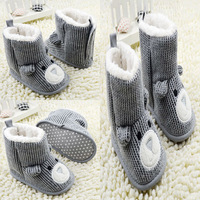 Toddler Baby Unisex Knit Snow Boots Bear Boots Fleece Boots Crib Shoes Free Shipping & Drop Shipping