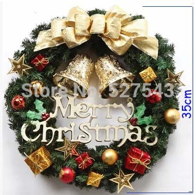 Free shipping 35cm New Design Christmas Wreach The hotel window market props Christmas decoration(China (Mainland))