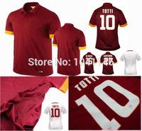 Top!14/15 seasons Thai Quality roma jersey TOTTI DE ROSSI BRADLEY ITURBE PJANIC roma 2015 shorts Football Jersey Free shipping