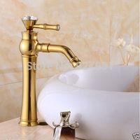 New Golden Polished Bathroom Basin Faucet Sink Mixer Tap Countertop Basink Vessel Sink Mixer Faucet