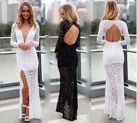 Vintage Elegant 2014 new  women sexy dress women full length embroidery bodycon Vestidos Prom Homecoming Wedding Maxi Dresses