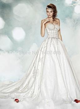 На заказ великолепная длиной до пола , последние конструкции платья сексуальная элегантный романтический модные свадебные платья 2015 свадебные платья noivas