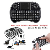 2.4G Mini Wireless QWERTY Keyboards Mouse Touchpad For Computer  Google TV Box PS3 Xbox360