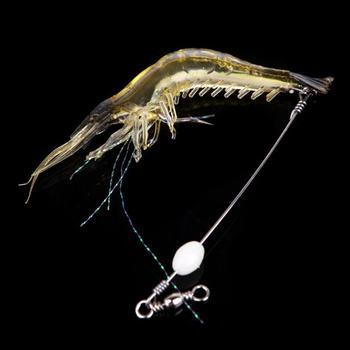 Искусственный серебристые мягкие силиконовые креветки креветки рыболовные снасти приманки крючок приманки # HW01049
