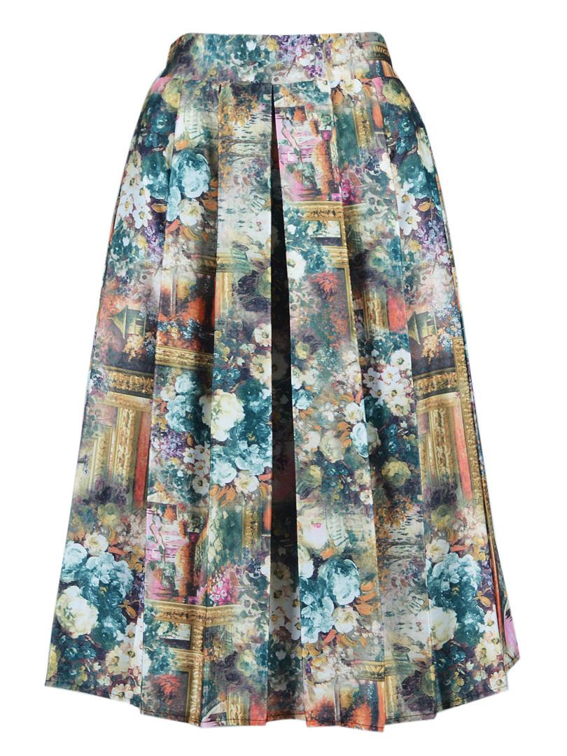 New Trend Women Fashion Black High Waist Rivet Striped Skirt One Size