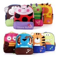 1pcs Free Shipping 8 Styles Cartoon  Zoo Animal Backpack Children Kids Primary Student School Bag Travel Bag
