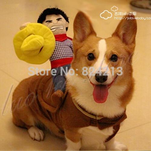 Cowboy Dog Riders Costume Pet
