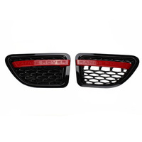 Black Red GRILLE RANGE ROVER SPORT Wing SIDE VENT AIR for LAND ROVER 06-09