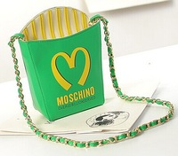 Fries shape chain bag, shoulder diagonal packet, fashion brand bags, PU bags,exclusive design bags