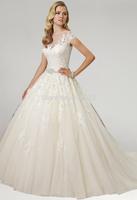 P14W131 Appliques  A-Line 2015 Tulle  Off the Shoulder Court Train Gorgeous Luxury Unique Brilliant Bridal Wedding Dress