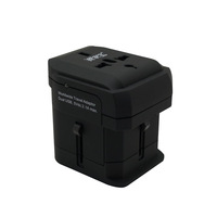 Universal multi-socket power converter abroad dedicated universal travel adapter Dual USB