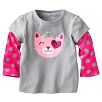 Wholesale grey spring autumn cotton t shirt girl basic long sleeve t shirt 6pcs/Lot Free shipping