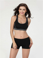 Hot new Women Yoga Athletic Sports Bras Crop Bra Tops Seamless Racerback Padded free shipping