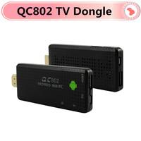 QC802 Android TV Box Quad Core RK3188 2G/8G HDMI WiFi Google Smart TV Receiver Stick Dongle Mini PC