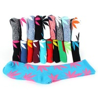 20 Colors Unisex Hemp Leaf Socks Crew Socks  Skateboard Sports Socks New For Freeshipping