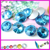 8mm 10mm 12mm 14mm 16mm 18mm sharp back crystal strass,jewelry rhinestones aquamarine color