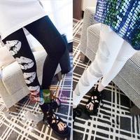 2014 New Girl Women Skinny Casual Leggings Lips Printing Slim Thin Pants
