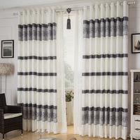 Free shipping finish jacquard fabric modern living room curtains upscale full light shading widow curtain