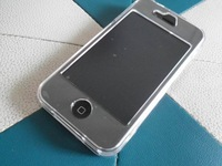 Clear Crystal Hard Back&Front Case Cover for iPhone 4 4S  Free Shipping 1pcs/lot
