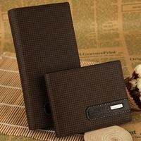 Free Drop Shipping brand handbag man purse genuine leather the fashion clutch men's wallets coffee colour carteira