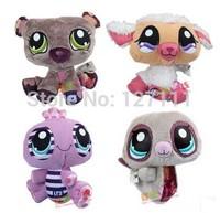 Littlest Pet toy plush Shop toys 14cm soft toy children toys many cute stuffed animals 4pcs/lot