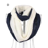 Winter women yarn circle scarf stripe Gradient color infinity yarn scarfs handmade for gift idea NL-2218