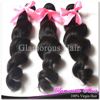 Wholesale 100% Remy Human Hair 10pcs Unprocessed 6a Loose Wave Double Weft Virgin Brazilian Hair Extensions