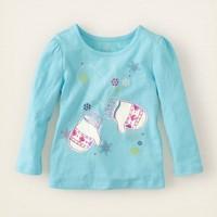 Wholesale sky blue  spring autumn cotton t shirt girl basic long sleeve t shirt 6pcs/Lot Free shipping